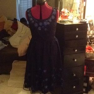 Eshakti navy blue mid dress 16